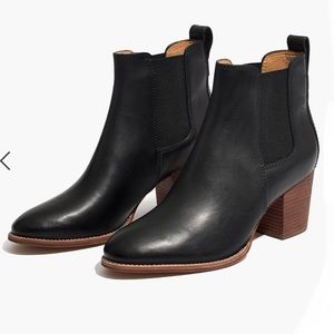 {Madewell} The Regan Boot in True Black Size 8